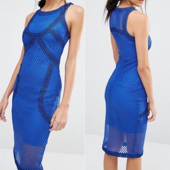 River Island Dresses & Skirts - River island Mesh Bodycon Cobalt Blue Dress